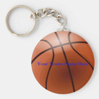 Basketball, Your Teams Name Here Basic Round Button Key Ring