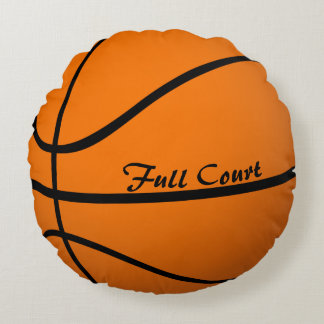 Basketballl Round Bed Throw Pillow Boy's Room