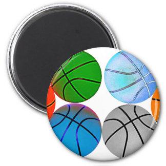 Basketballs 2010 6 cm round magnet