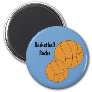 Basketballs 6 Cm Round Magnet