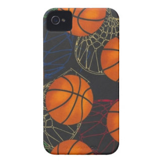 Basketballs and Hoops Iphone Case iPhone 4 Case-Mate Cases