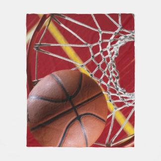Basketballs and Net Fleece Blanket