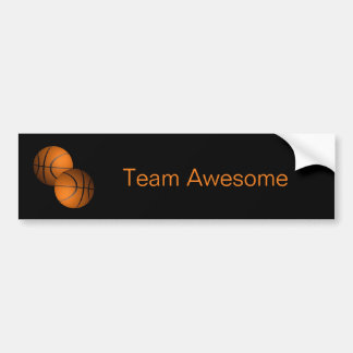 Basketballs Bumper Sticker