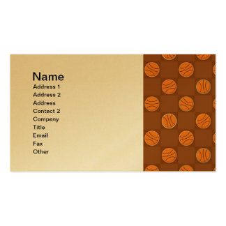 Basketballs Business Card Templates