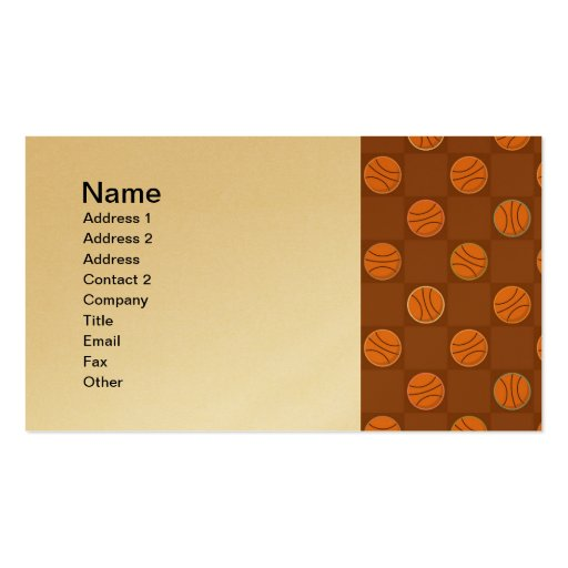 Basketballs Business Card Templates