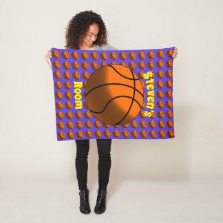 Basketballs Fleece Blanket