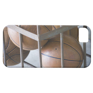 Basketballs in a basket iPhone 5 cases