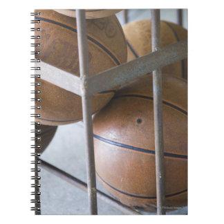 Basketballs in a basket notebook