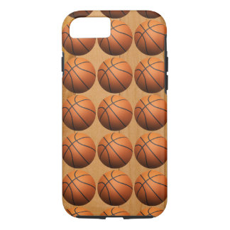 Basketballs On Wooden Floor iPhone 7 Case