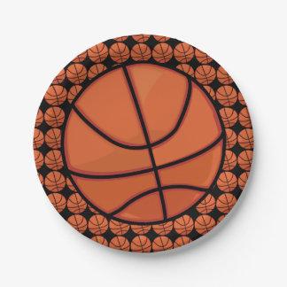 Basketballs Paper Plate