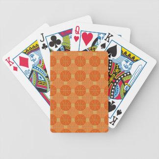Basketballs pattern playing cards
