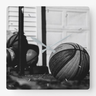 Basketballs Square Wall Clock