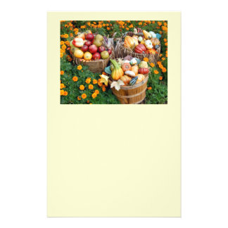 Baskets of Autumn Fruit and Vegetables 14 Cm X 21.5 Cm Flyer