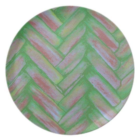 Basketweave Melamine Plate