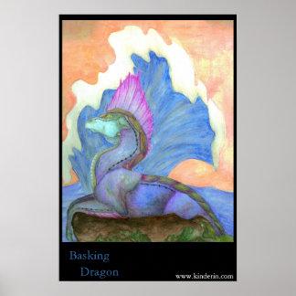 Basking Dragon Poster