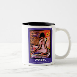 """Basking in the Sun"" by Zermeno Two-Tone Coffee Mug"