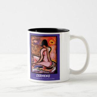 """Basking in the Sun"" by Zermeno Two-Tone Mug"