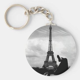 Basking Basic Round Button Key Ring