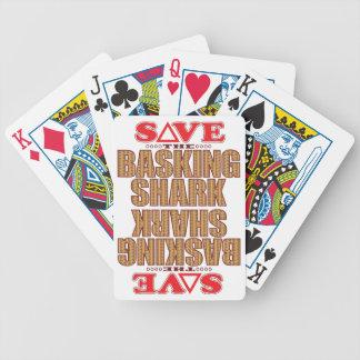 Basking Shark Save Bicycle Playing Cards