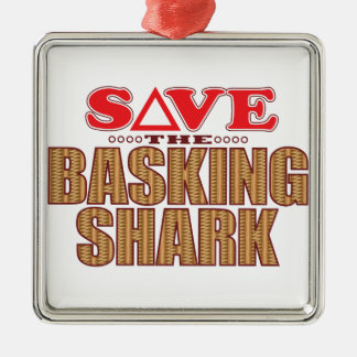 Basking Shark Save Christmas Ornament