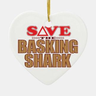 Basking Shark Save Christmas Ornament