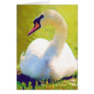 Basking Swan Greeting Card