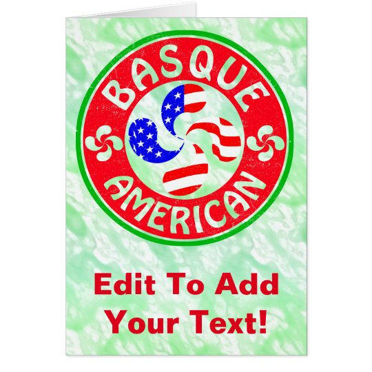 Basque American Euskara Lauburu Cross Card