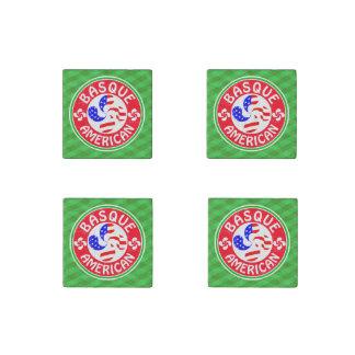 Basque American Euskara Lauburu Cross Coasters Stone Magnet