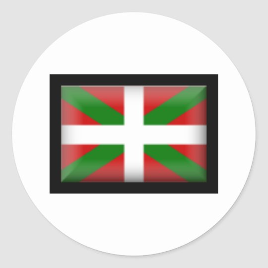 Basque Flag País Vasco Classic Round Sticker