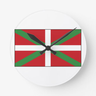 Basque Flag Spain Round Clock