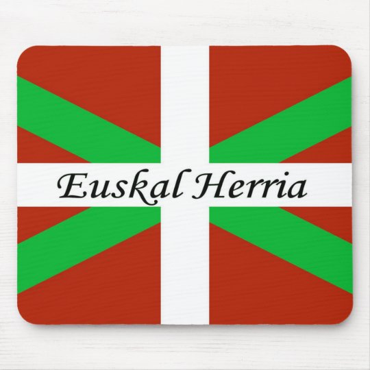 Basque Flag With Euskal Herria Mouse Pad