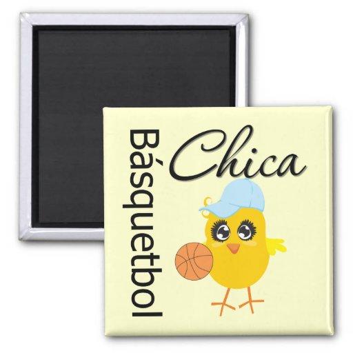 Básquetbol Chica Square Magnet