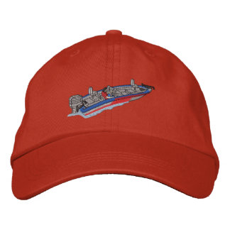 Bass Boat Embroidered Hat