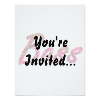 Bass bougie flat text 11 cm x 14 cm invitation card
