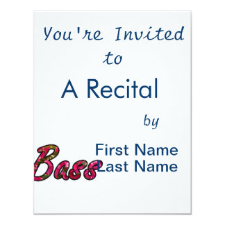 Bass bougie outline  flat text 11 cm x 14 cm invitation card