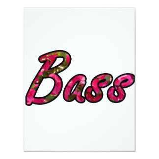 Bass bougie outline  flat text personalized invitations