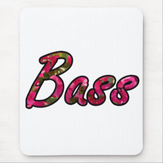 Bass bougie outline  flat text mouse pad