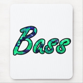 Bass bougie teal outline mouse pad