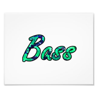 Bass bougie teal outline photo