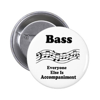 Bass Choir Gift 6 Cm Round Badge
