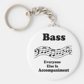 Bass Choir Gift Basic Round Button Key Ring