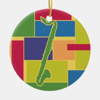Bass Clarinet Colorblocks Ornament