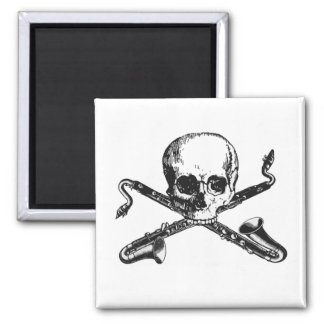 Bass Clarinet Pirate Fridge Magnet