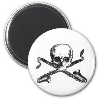 Bass Clarinet Pirate 6 Cm Round Magnet