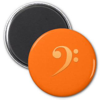 bass clef 6 cm round magnet