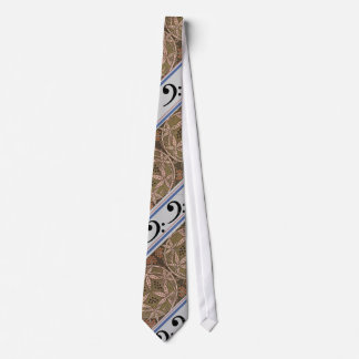 Bass Clef and Art Noveau Patterned Tie