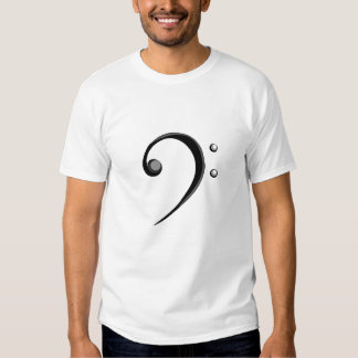 Bass Clef Casual Style Black and White Version Tshirts