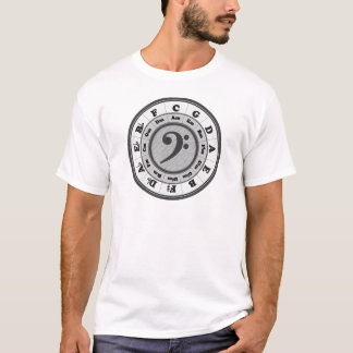 Bass Clef Circle of Fifths T-Shirt
