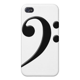 Bass Clef - F Clef Music Symbol Case For iPhone 4