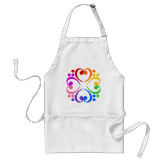 Bass Clef Flower Aprons